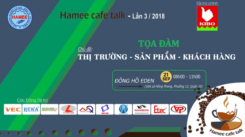 HAMEE CAFE TALK LẦN 3 / 2018